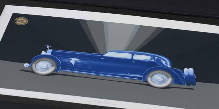 Entwurf für ein viertüriges Cabriolet Hispano-Suiza J 12