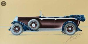 Entwurf für einen Phaeton auf Maybach Zeppelin-Chassis