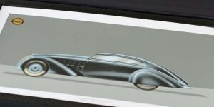Design for a four-door streamliner saloon Maybach Zeppelin