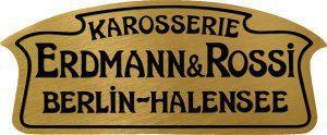 Erdmann & Rossi-Plakette der 1920er und 30er Jahre